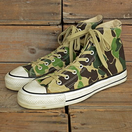 "CONVERSE - 80's ALL STAR HI ""CAMO"" CANVAS OX MADE IN USA"