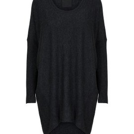 JUST FEMALE - Carla knit blouse antracit