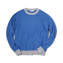 HEAD PORTER PLUS - TRIM COLOR KNIT BLUE/GREY