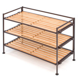Seville Classic - 3 Tier Bamboo Storage and Shoe Rack