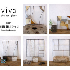 vivo stained glass works - ステンドグラス パネル stained glass panel 窓 window panel
