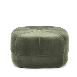 Normann Copenhagen - Circus Pouf Large in dark green velour
