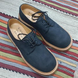 The Old Curiosity Shop x Quilp by Tricker's - Plain Toe Black nubuk