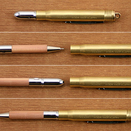 MIDORI - BRASS Ball Point Pen Natural Wood