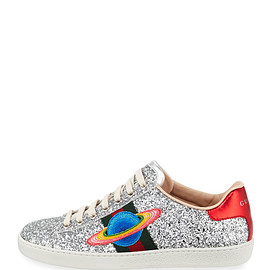 GUCCI - Ace Saturn Glitter Low-Top Sneaker