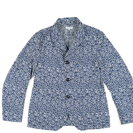 ENGINEERED GARMENTS - Bedford Jacket-PC Floral Jacquard-Blu×Wht