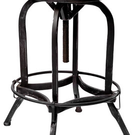Dempsey Industrial Metal Design Swivel Bar Stool traditional bar stools and counter stools