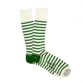 Corgi Hosiery - THIN STRIPE GREEN