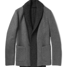 Kolor - Kolor Wool and Cashmere-Blend Flannel and Knitted Blazer