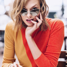"Karlie Kloss, WARBY PARKER - collaboration ""MARPLE"" HEIRLOOM GOLD & HEIRLOOM SILVER"