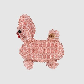 GUCCI - Bead Embroidered Dog Brooch