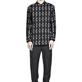 ALEXANDER WANG - Printed Double Shoulder Button Down Shirt Thumb