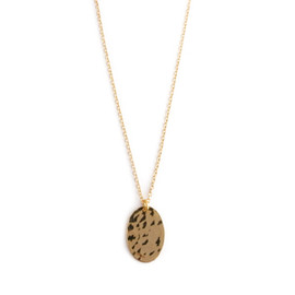 Lanterna - Hammered Small Oval Necklace