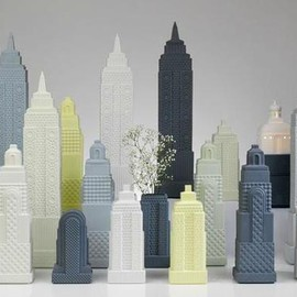 City scape lladro metropolis 600x397 Metropolis Architectural Lighting & Accessories by Lladró