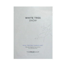 The face shop - white-tree-snow-facial-treatment essence sheet