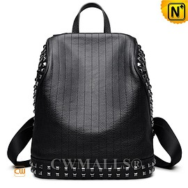 CWMALLS - CWMALLS® Designer Leather Studded Backpack CW207006