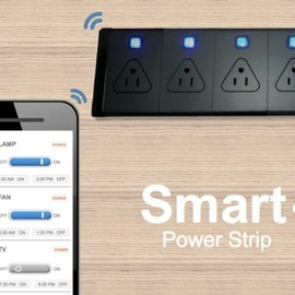 Smart Power Strip : スマホで電源ON/OFF! 消費電力まで分かるコンセントタップ