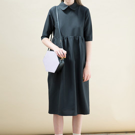 Cotton and linen oversized dress loose gown Long dress