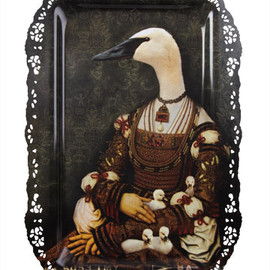Ibride - Bianca Goose and Goslings Tray