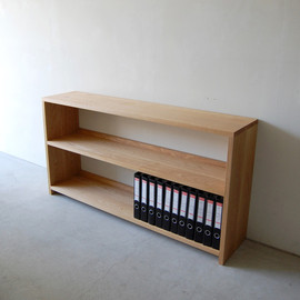 NAUT - 145 | 01_Standard furniture Plate book shelf 1 : W1,500 D330 H794 / Solid ash oil finis