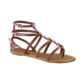 LOUIS VUITTON - Monogram flower embellished gladiator sandals