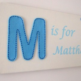 Luulla - Blue Personalised Name Plaque