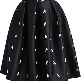 romwe - Frog Print Flare Skirt pictures