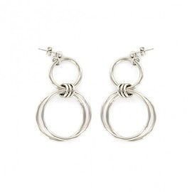 Justine Clenquet - Alice earrings (palladium)