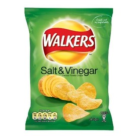 "Walkers - ""Salt & Vinegar"" Flavour Potato Crisps"