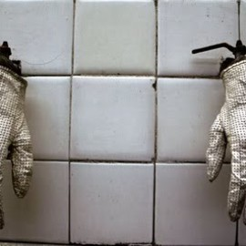 Carol Christian Poell - White perforated glove