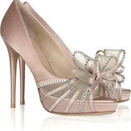 VALENTINO - Crystal Versailles Bow satin sandals