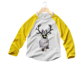 STELLA McCARTNEY KIDS - Tootie: babys t-shirt, organic cotton, rabbit stag print