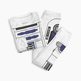J.CREW - STAR WARS FOR CREWCUTS GLOW-IN-THE-DARK PAJAMA SET IN R2-D2