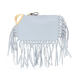VALENTINO - C-Rockee scarab fringed leather clutch