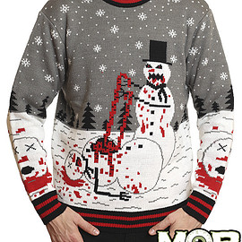 Middle of beyond - Zombie Snowman Christmas Sweater