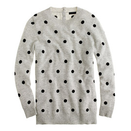 J.CREW - Collection cashmere polka-dot sweater