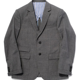 bal - WORSTED WOOL TWO-BUTTON SUIT JACKET