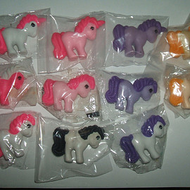 Hasbro - 1980's My Little Pony 3D erasers