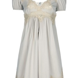 DOLCE&GABBANA - Nude cotton blend dress