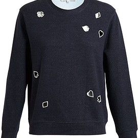 Carven - Playing Cards Cut Out Sweatshirt
