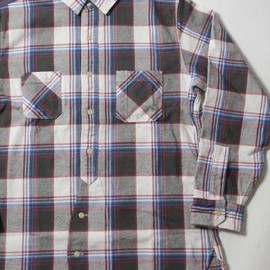 NOBLE MINE - NOBLE MINE(ノーブルマイン) TWILL CHECK WORK SHIRT NM630-35