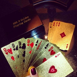 gold playing cards♡