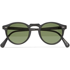 Oliver Peoples - Gregory Peck Round-Frame Matte-Acetate Sunglasses