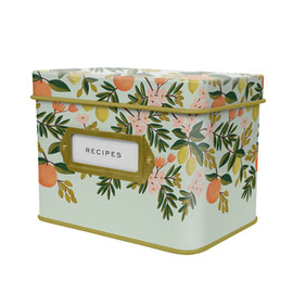 Rifle Paper Co - Citrus Floral Tin Recipe Box