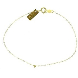 iwana ludyga - solid gold tiny triangle bracelet
