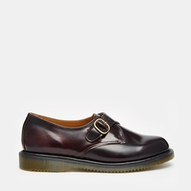 Dr.Martens - Image 1 of Dr Martens Kensington Lorne Cherry Red Monk Flat Shoes