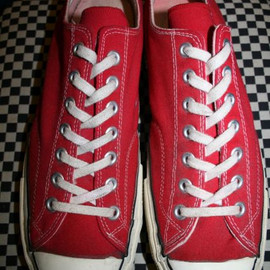 CONVERSE - ALL STAR CHUCK TAYLOR LO RED  MADE IN USA