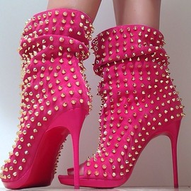 Christian Louboutin - hot pink/boots
