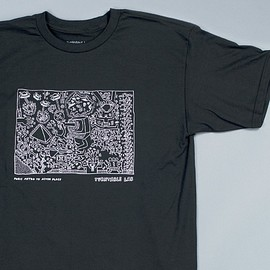 Turntable Lab, Keith Haring - Astor Place Tee - Black