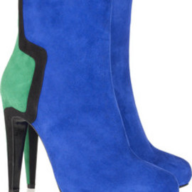 Pierre Hardy  - Color-block suede ankle boots